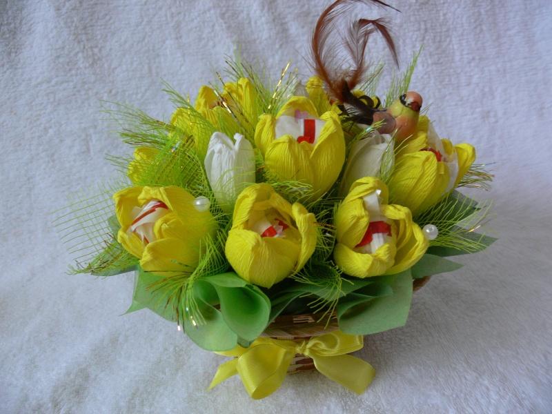 Букет тюльпанов из конфет своими руками для начинающих