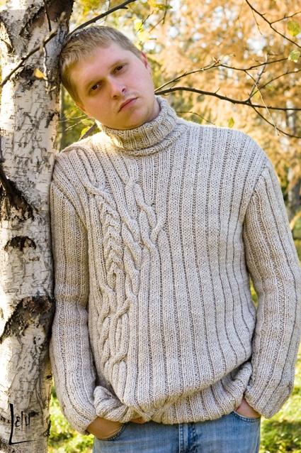 Свяжу свитер мужской